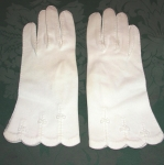 Van Raalte white cotton gloves