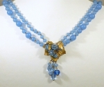 DeMario Cornflower Blue Necklace & Earrings