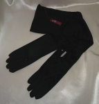 Black evening gloves - size 7.5