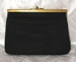 Rosenfeld black satin clutch