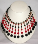 Black and Red Bead Necklace WAS £148 NOW...