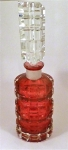 Art Deco Cranberry Glass Perfume Bottle