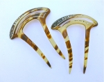 Pair of Deco Celluloid Hair Combs
