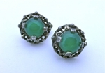 Miracle Green Clip Earrings