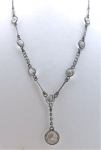 Art Deco Crystal Crop Necklace