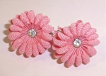 Sugar Pink Flower Earrings