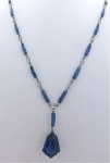 Art Deco Blue Crystal Necklace