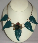 Teal Leaf Necklace WAS £163 NOW .....