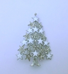 White Christmas Tree Pin