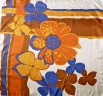 Asymmetrical Flower Power Silk Scarf