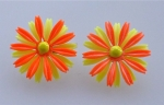 Orange & Yellow Flower Earrings