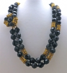 French Jet Double Strand Necklace