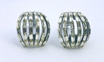 Trifari Style Clip Earrings