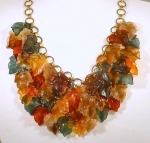 Autumnal Lucite Leaf Necklace  WAS £155 NOW.....