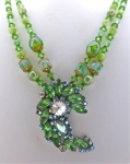 Remodelled 50's Brooch Necklace