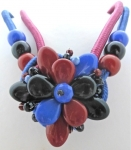1980's Plastic Flower Necklace