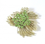 Attractive Pale Green Brooch