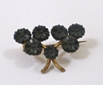 Sweet Black Flower Pin WAS £76 NOW...