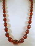 Rich Faceted Amber/Bakelite Beads WAS £185 NOW.....