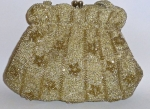 1960's gold beaded bag