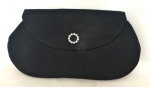 Black Fabric Evening Clutch