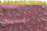 Deep Red Paisley Scarf