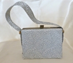 !960's Silver Grey box Bag