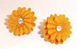 Pale Orange Fabric Earrings